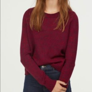 H&M Divided Red Sweater (size: xs)